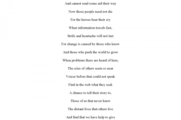 """Voices Heard"" by Morgan Desjardins - Poetry Winner"