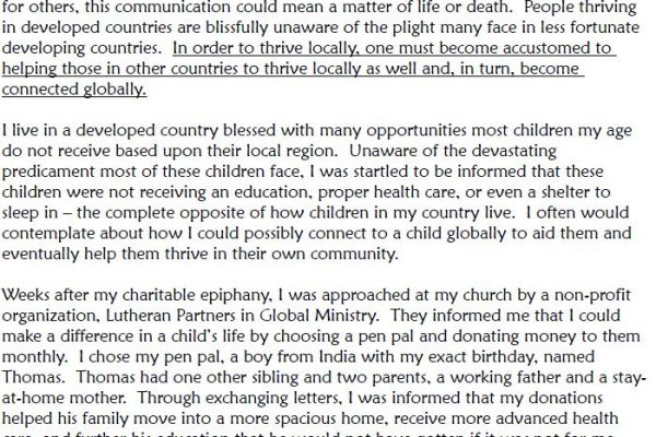 """8,290 Miles and Memories Shared"" by Megan Allen - Essay Winner"