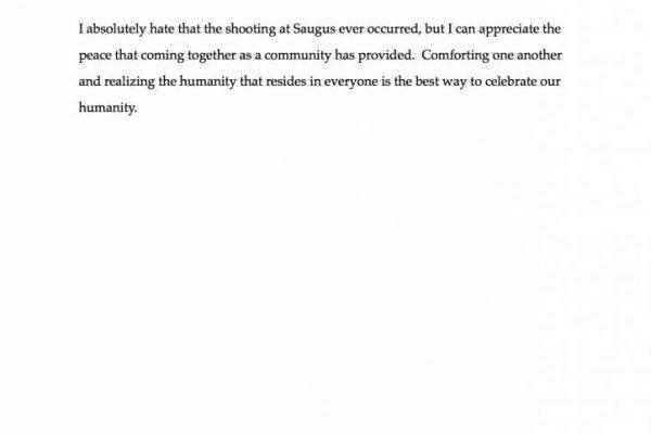 """""""Tragedy Brings Community"""" by Blake Gallardo - Essay Winner (pg. 2)"""