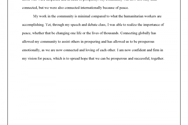 """""""A Spark of Peace"""" by Grace Lim - Essay Winner (pg. 2)"""