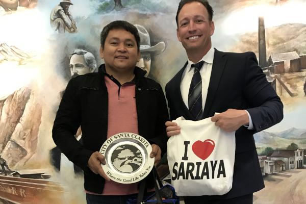 City Manager Ken Striplin w/ Sariaya Mayor Marcelo Gayeta - 2017 Visit