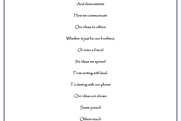 """""""Exchanging Ideas"""" by Michael Salerno - Poetry Winner"""